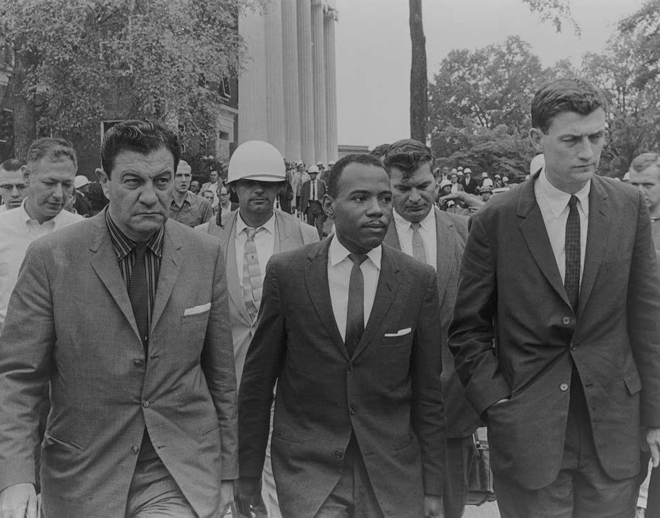 "cordjefferson:   James Meredith, the black man who 50 years ago inflamed white Mississippi by quietly demanding admission to the state's segregated flagship university, does not plan to participate this week in the university's commemoration of his history-making enrollment. The University of Mississippi says Meredith, now 79 and living in Jackson, has been invited to take part in events to mark the anniversary, but Meredith says he doesn't see the point. ""I ain't never heard of the Germans celebrating the invasion of Normandy, or the bombing and destruction of Berlin. I ain't never heard of the Spanish celebrating the destruction of the Armada."" Asked to clarify, Meredith said: ""Did you find anything 50 years ago that I should be celebrating?"" Mississippi's segregationist governor in 1962, Ross Barnett, denounced the federal government as ""evil and illegal forces of tyranny"" for ordering Ole Miss to enroll Meredith, a 29-year-old Air Force veteran. In the face of state defiance, President John F. Kennedy and his brother, Attorney General Robert Kennedy, deployed more than 3,000 soldiers and 500 law enforcement officers to Oxford. Two white men were killed and more than 200 people were injured, including 160 U.S. marshals, in the ensuing riot. Meredith is now memorialized by a bronze statue on campus, which he calls ""hideous"" and wants destroyed. Meredith says the monument glosses over the magnitude of Mississippi's resistance to his exercise of what should have been recognized as an obvious human right.  James Meredith sounds like an ornery and wonderful old gem of a human being."