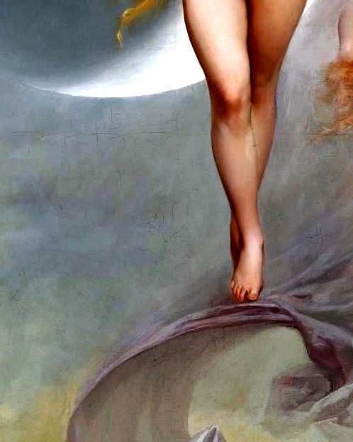 The Planet Venus (detail) by Luis Ricardo Falero