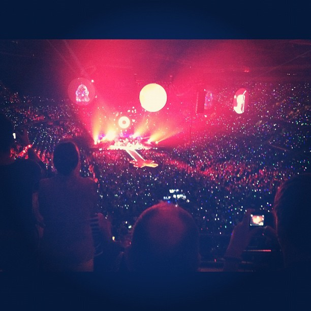 Coldplay concert in Detroit (Taken with Instagram)