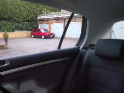 I SEE YOU  VW Golf MK2 GTI 16V Tornado Red 1992  ( Phone Pic )
