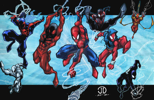 SpiderMAN MONTAGE COLORS by *JoeyVazquez