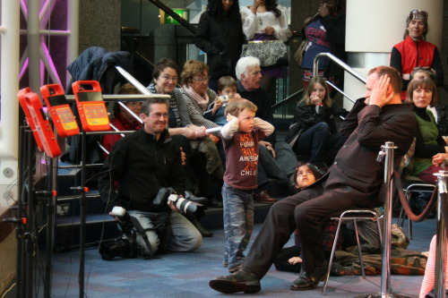 Lovely photo of Brian and a young critic at Symphony Hall this spring.