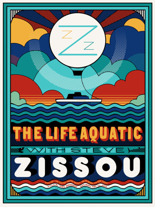 Only 9 copies of Sam Smith's awesome Life Aquatic poster are left! These are all signed and numbered by the artist, so once they're sold out they're gone forever! Check out all the great prints we've been making for the historic Castro Theatre here - http://store.spoke-art.com/collections/the-castro-theatre-series
