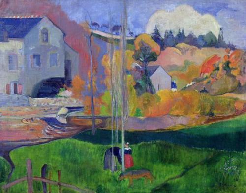 Paul Gauguin, 1894, Brittany Landscape: The David Mill