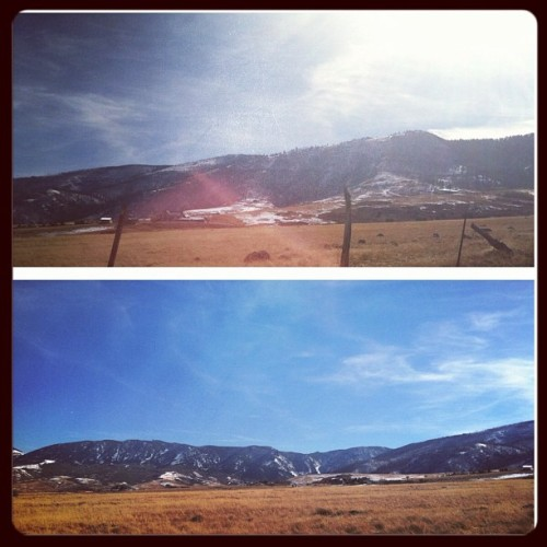 @qgoldham and I's blunt session view. #beautiful #bighorn #wyoming  (Taken with Instagram)