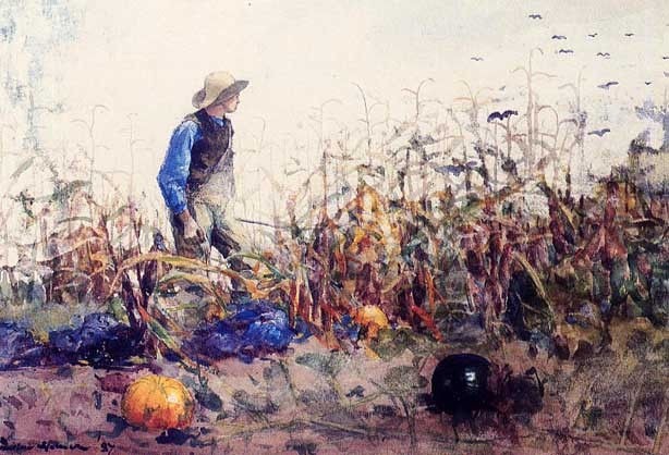 paperimages:  Winslow Homer, Among the Vegatebles aka Boy in a Corn Field, 1887