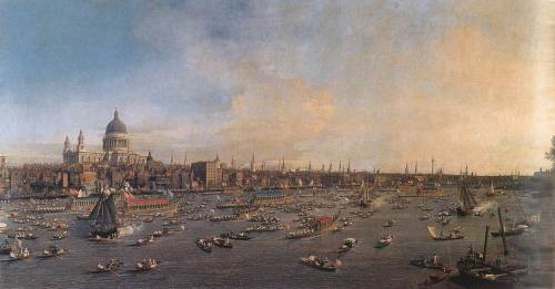 speedofmind:  Giovanni Antonio Canal, The River Thames with St. Paul's Cathedral on Lord Mayor's Day, c. 1746