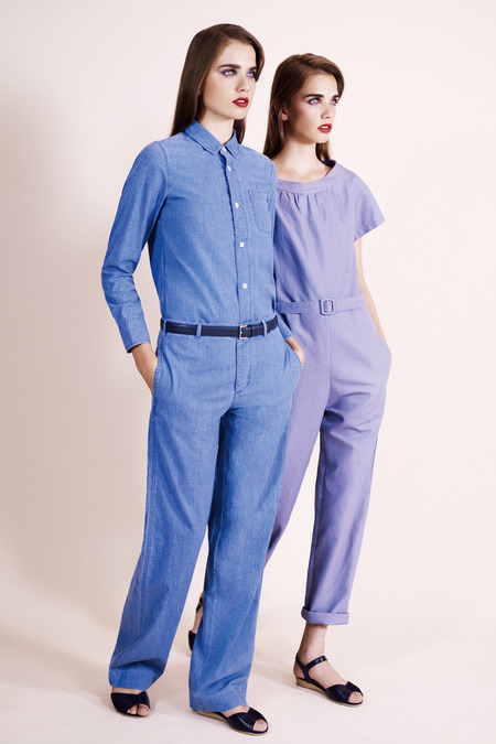 "A.P.C. Spring 2013 RTW  ""Janitorial Androgyny"" was probably one of those concepts that sounded a lot edgier on paper, I'm thinking."