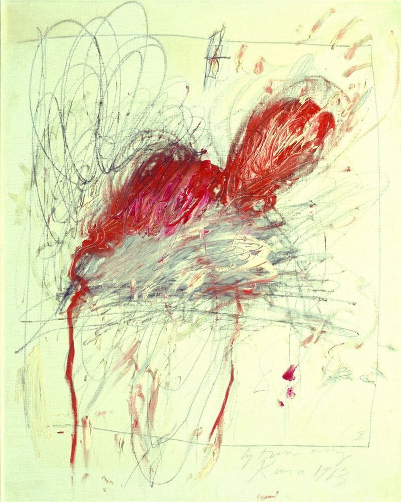 Cy Twombly Leda and the Swan, 1963