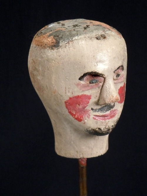 A little Head   Collection Jim Linderman Dull Tool Dim Bulb the Blog 19th century doll/puppet head Original Paint