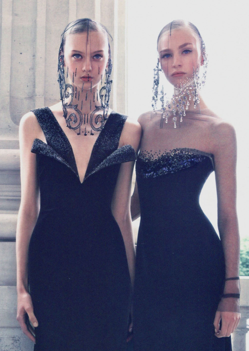 'Simply Elegant' Nastya Kusakina & Hedvig Palm photographed by Patrick Demarchelier for Vogue China Collections, Fall 2012