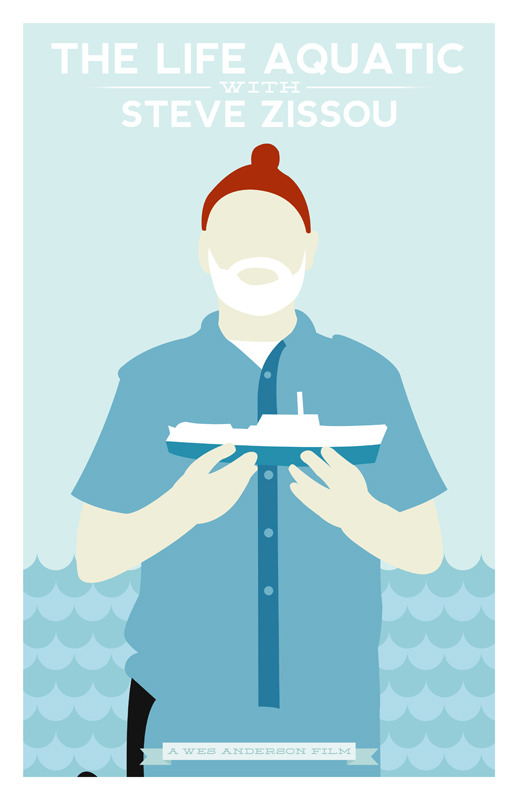 The Life Aquatic With Steve Zissou poster by William Henry Prints available on Etsy at https://www.etsy.com/listing/111504986/the-life-aquatic-with-steve-zissou. —- View my portfolio at http://www.williamhenrydesign.com. Please get in touch. I would love to work together on a project. You can also follow me on Twitter at http://www.twitter.com/billpyle and on Facebook at http://www.facebook.com/williamhenrydesign.