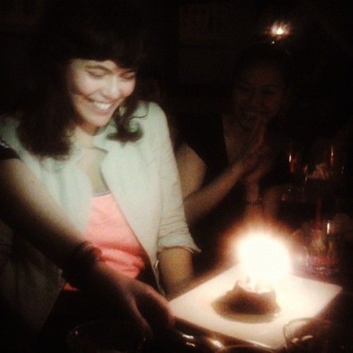 [kim's #birthday at #esperantonyc / #chocolate #makeawish #qtpoc / #chosenfam #nyc] cc: @lobias11 @redpapillon @theconstantwanderer @radicalific @sylent @makibakagal @anang_c #pinay] (Taken with Instagram)
