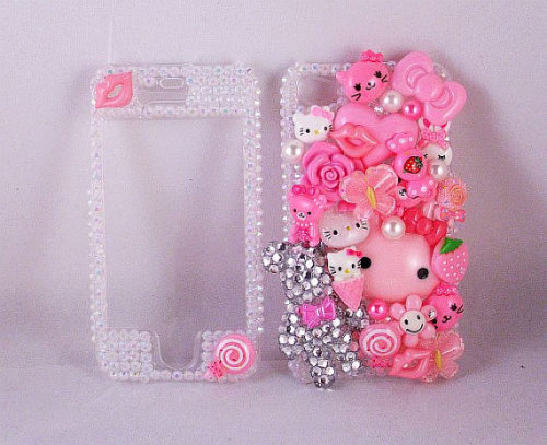 Decoden Phone Case for the iPhone 4 / iPhone 4s ONLY $40 !!! https://www.etsy.com/listing/100136998/sale-pink-bling-decoden-iphone-4s-4g Click the link above to view my case on Etsy :)