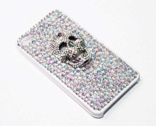 Crystal Skull Phone Case by Sophie Adamson Art and Accessories Can be made for most phones in various colours