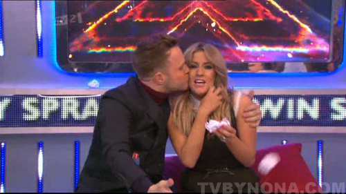 This random kiss deserves its own post. (Xtra Factor 9x12)