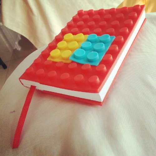 One of the things that i won from the #dicegame #diary #lego #legonotebook #cute #moonfestival #igers #igersdaily #igerscebu #igersphilippines #igdaily #instagramers #instagramerscebu #red #colorful #brightcolors #stunningcolors #designednotebook #lego  (Taken with Instagram)