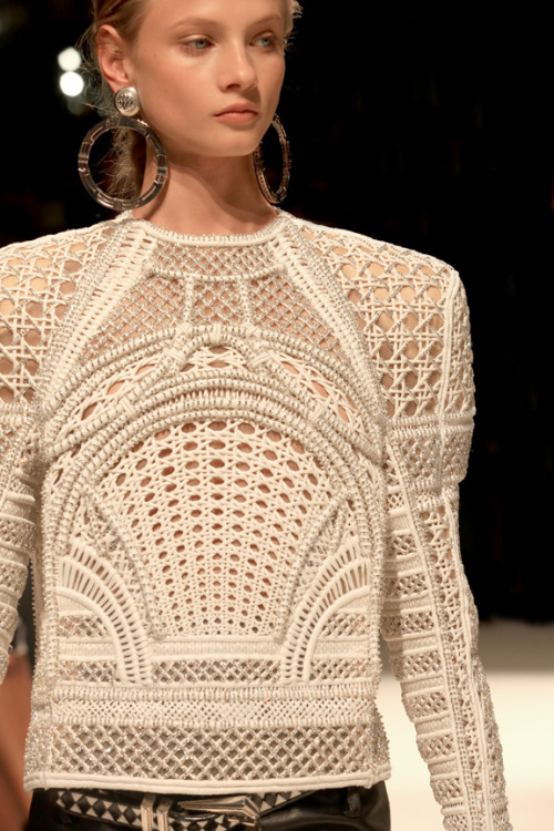 blackberryvision:  juliachesky:  Anna Selezneva, Balmain S/S 13. Paris, 2012  Posting the rest of Paris/FW stuff on the .com blog —see you there! xx