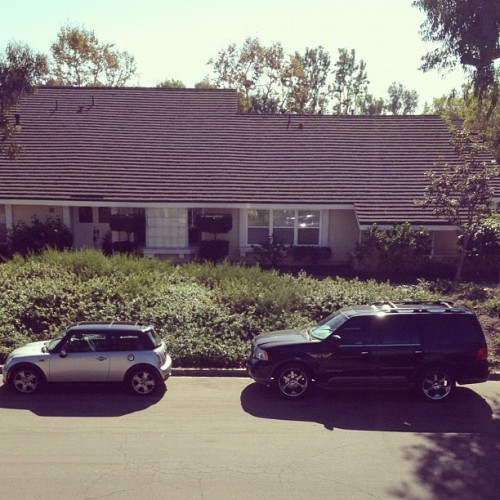 The Navigator dwarfs the Mini. #hah (Taken with Instagram)