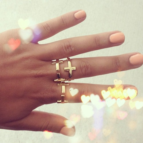 saboskirt:  New arrivals up now including these amazing gold cross rings! Available now at SaboSkirt.com #saboskirt  (Taken with Instagram)