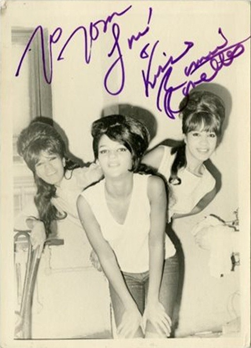 A rare signed photo of The Ronettes