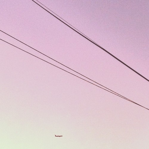 Take me away. #plane #airplane #fly #minimal #wire #sky #blue #sydney  (Taken with Instagram)