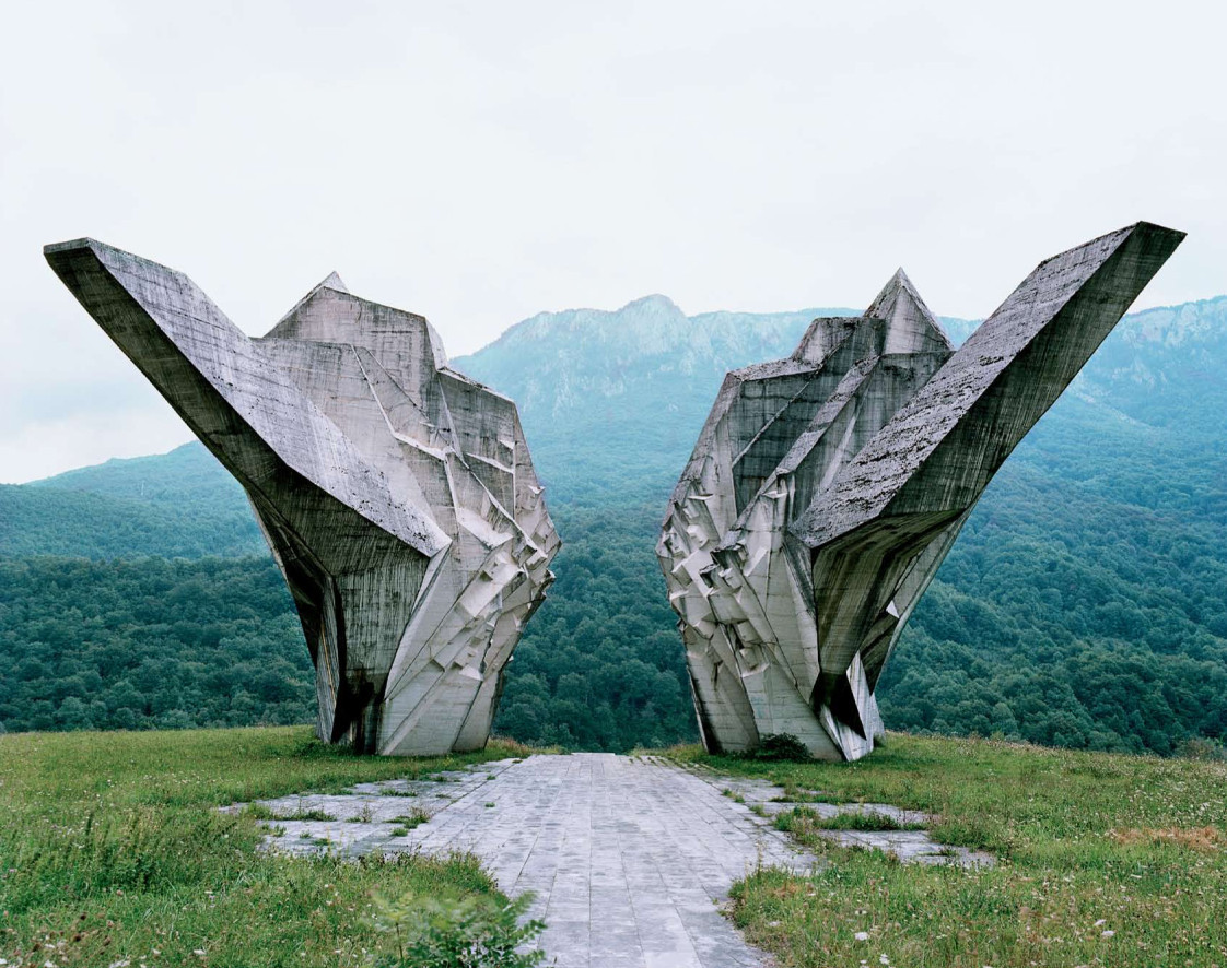 abandoned monument in the former Yugoslavia