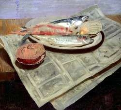 stilllifequickheart:   William Nicholson Fish  1922