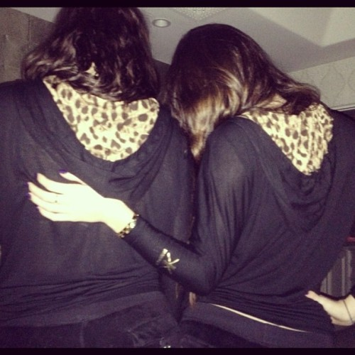 "Kylie: ""Twinnies! Black Juicys & Kardashian Kollection Hoodies @khloekardashian"""