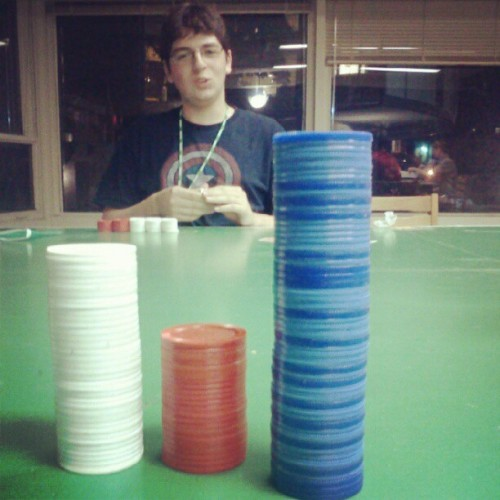 Before the big win #poker (Taken with Instagram at Myers Hall)