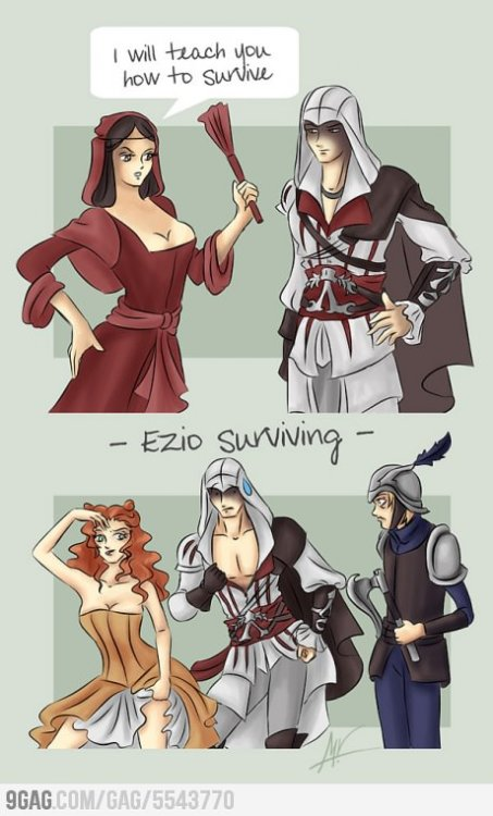 9gag:  Assassin's logic