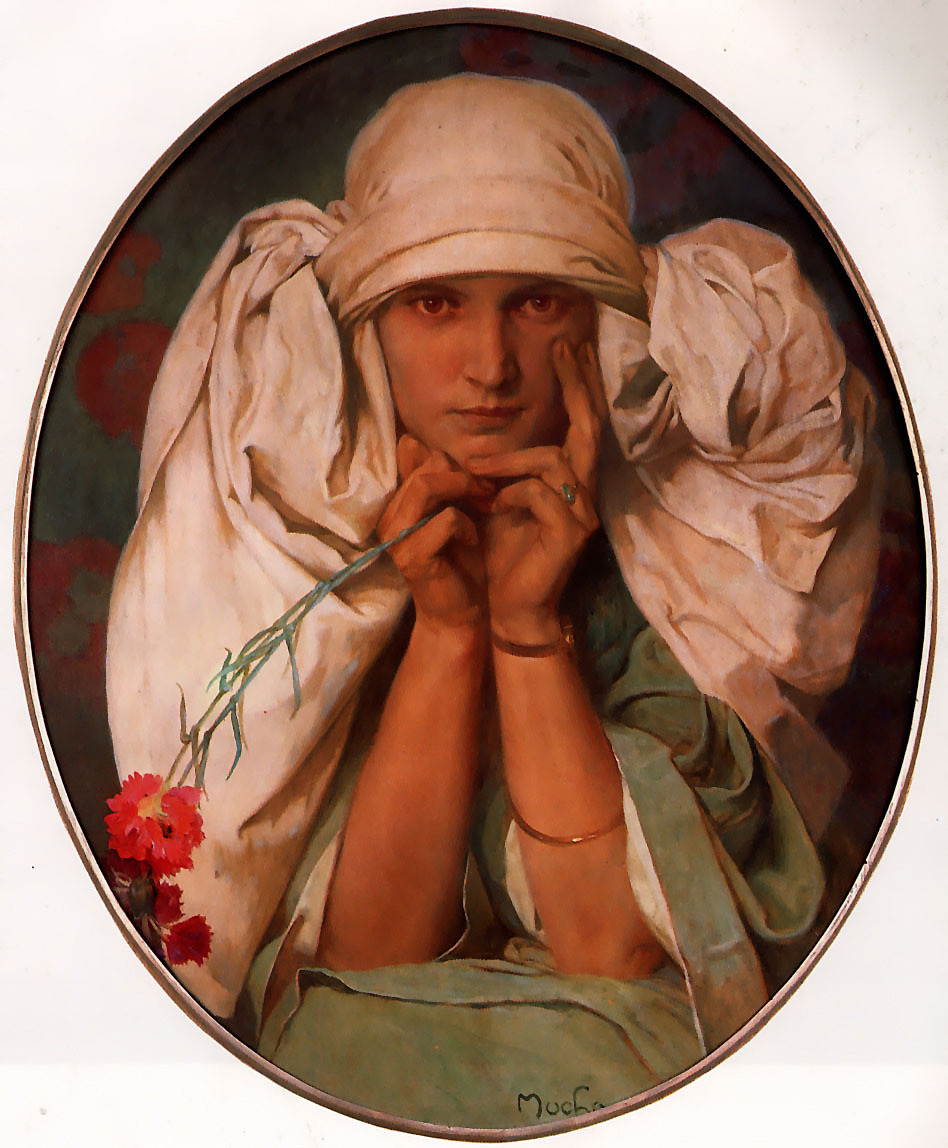 Portrait of Jiri (1925) by Mucha