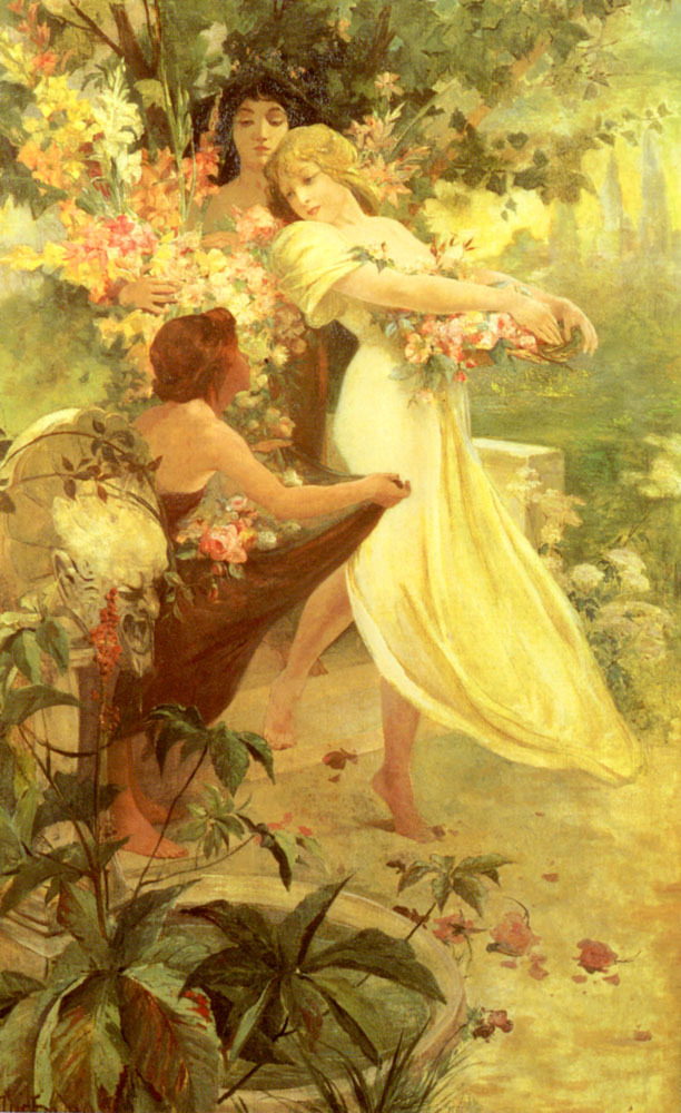 Spirit of Spring (1894) by Mucha