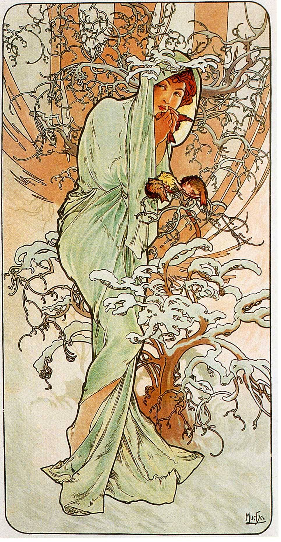 Winter (1896) by Mucha
