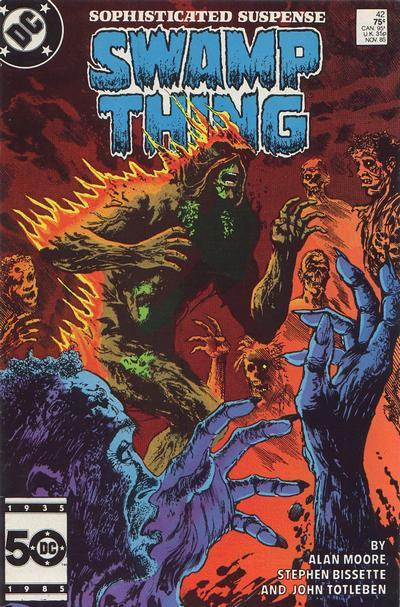 Saga of Swamp Thing #42, November 1985, written by Alan Moore, penciled by Stephen Bissette