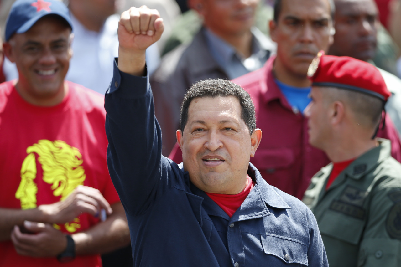 Venezuela's socialist President Hugo Chavez won re-election on Sunday, quashing the opposition's best chance at unseating him in 14 years and cementing himself as a dominant figure in modern Latin American history. The 58-year-old Chavez took 54.42 percent of the vote, with 90 percent of the ballots counted, to 44.97 percent for the young opposition candidate Henrique Capriles, official results showed.READ ON: Venezuela's Chavez re-elected to extend socialist rule