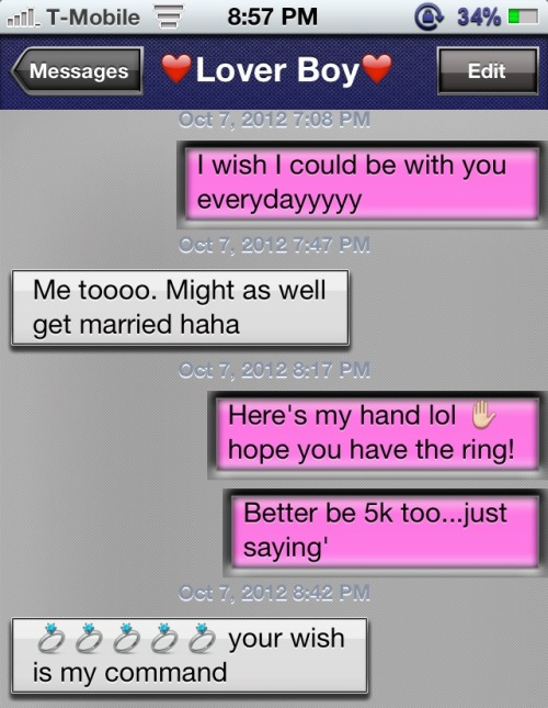 LOL just joking around with the boyfriend :p