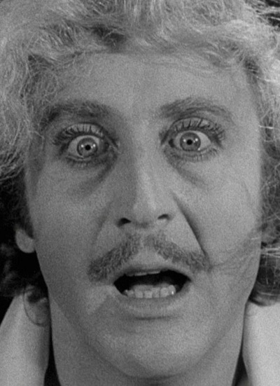 exitnetwork:  Gene Wilder as Dr. Frederick Frankenstein in Mel Brooks' 1974 film 'Young Frankenstein'