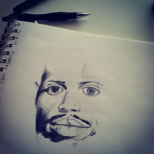 An old drawing I (Jesse Hansonl) did of Dave Chappelle