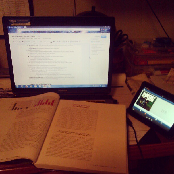 late night studying and Pandora (Taken with Instagram)