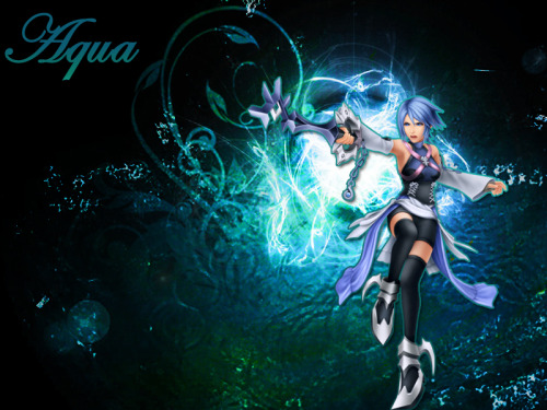 dream-drop-town:  Kingdom hearts Aqua by *brian61