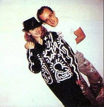 Madonna With Keith Haring
