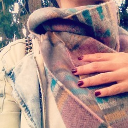 Urban Outfitters scarf on me. #uoonyou #scarf #style #look #nails #polish #igers #fashion #details (Taken with Instagram)