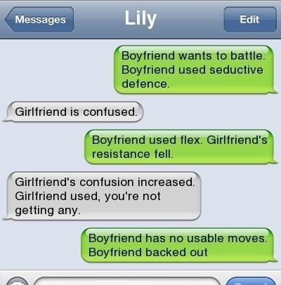 never battle a girl, she will win…always ;)