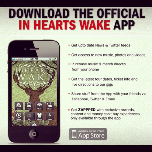 We now have an IHW APP! Type IN HEARTS WAKE into the App Store and download it for FREE! Music, shows, videos + more. Please rate it :) #freeiphoneapp #divination  (Taken with Instagram)