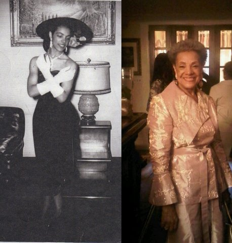 "vintageblackglamour:  Happy 82nd Birthday to my FAVORITE Aunt Mildred Taylor (nee Green) my grandmother's baby sister. In the 1950s, she competed (and won!) in ""Negro"" beauty pageants and did some local modeling in our hometown of Newark, NJ. I wanted to show you what she looked like today to show you that Vintage Black Glamour can last for a lifetime. Happy Birthday Aunt Mildred!   Beautiful"