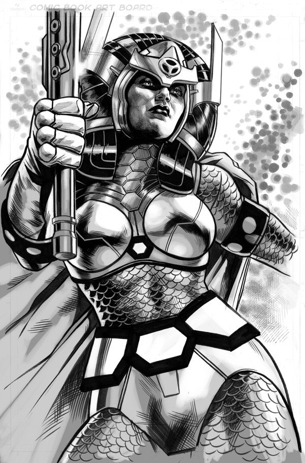 theenmity:  Big Barda by Felipe Massafera