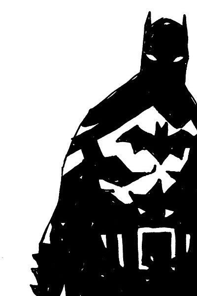 polveretralestelle: Mike Mignola - Batman Black and White II