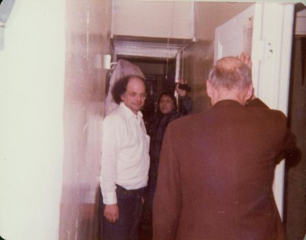 derrierelasalledebains:  Allen Ginsberg , Herbert Huncke and William S Burroughs at  Allen and Peter's new apartment, 437 East 12th St, New York City, December 1975.
