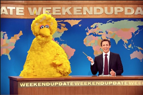 Big Bird took he high road, refusing to directly respond to Mitt Romney saying he'd cut government funding for the Public Broadcasting Station.